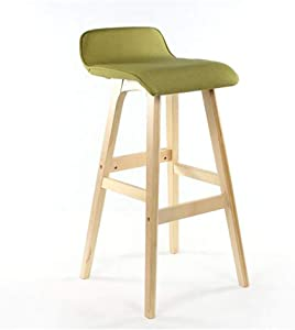 ZWJ-Bar Stool BarStools for Kitchen Counter Height, Wood Barstool Indoor Outdoor with Back (Color : #7, Size : 75cm)