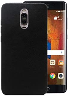 Meanlove PU Leather Ultra-Slim Back Case Cover Compatible with Huawei Mate 9 Porsche Design, Black