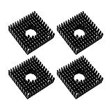 Jopto 4 Pezzi Accessori per Stampante 3D 40 mm Dissipatore di Calore Nero Alluminio 40 x 40 x 11 mm per Raffreddamento Stampanti 3D Makerbot MK7/MK8, TEC1-12706 Termoelettrico Peltier