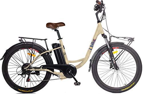 i-Bike City Easy S ITA99, Bicicletta elettrica a pedalata assistita Unisex Adulto, 46 cm, Colori assortiti, 1 pezzo
