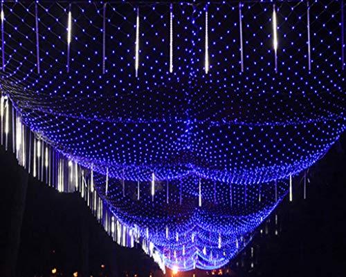 LTKING Rete di Luci Natalizia per Esterna Impermeabile, LED Luci Catene 10m X 8m 2600leds con 8 modalità Dimming, Decorazione E L'illuminazione per Le Piante D'albero di Natale Tetto Giardino Blu