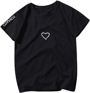 FELZ Día De San Valentín Hombres Y Mujeres Camiseta Manga Corta Jersey Tallas Grandes Chandal Cuello Redondo Blusa Deporti...