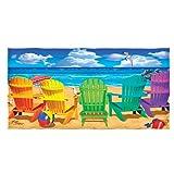 Beach Chairs Super Soft Plush Cotton Beach Bath Pool Towel