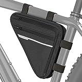 Velmia Bolsa Triangular Impermeable para Bicicleta, Funda para Manillar, Bolsa Triangular Ideal para candado de Bici, Herramientas, Chubasqueros