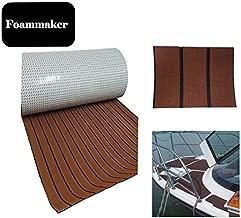 Foammaker High Density EVA Non-Slip Marine Teak Decking Sheet, DIY Flooring for Boat, Yacht