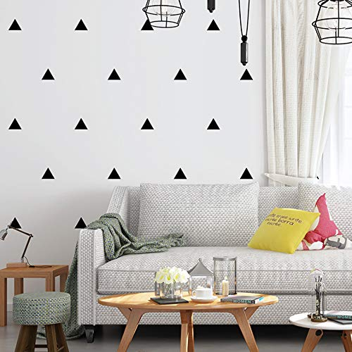 Nordic Style Modern Minimalist PVC Wallpaper Geometric Black and White Triangle Living Room Bedroom Children's Room Porch TV Background Wall 20.87'Wx393.7'L Non-Pasted