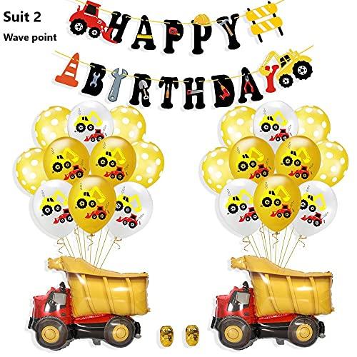 Wang Guozhang Ingenieurwahrer Auto Bagger Flagge-Ziehen Ballonanzug Aluminium Film Papier Chip Ballon Boy Theme Geburtstag Party Dekoration (Color : Suit 2-Wave Point)
