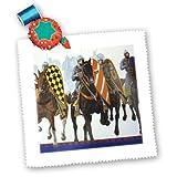 3dRose QS 34791_ 1Ritter auf Horses-Quilt Platz,