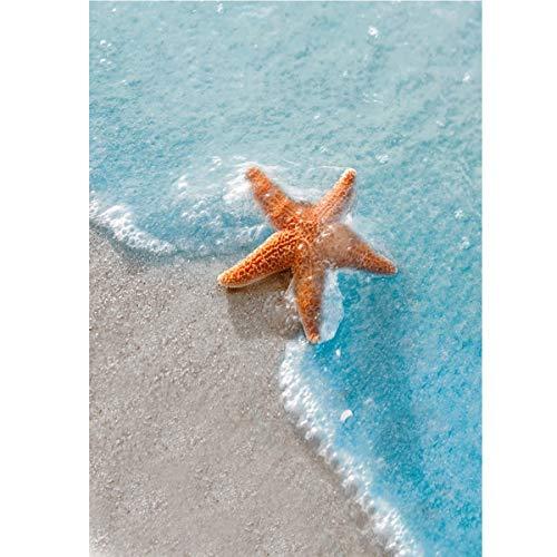 TWBB Diamond Painting Kits for Adults,DIY 5D Diamond Painting for Kids,Diamond Art Kits for Adults,Beach Starfish Full Drill Diamond Painting,12x16 inch