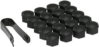 mewmewcat Conjunto de tampas de parafuso de tampas de parafusos universais de 20 unidades de plástico de 17 mm para rodas ...