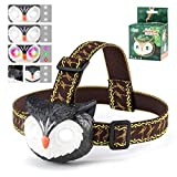 Outdoor Toys Headlamp for Kids-Aubllo Toys for Boys Girls Birthday Gifts Owl LED Headlight Flashlight with Owl Sound 4 Lighting Mode Adjustable Headband Camping Running Hiking Stocking Stuffers(Black)
