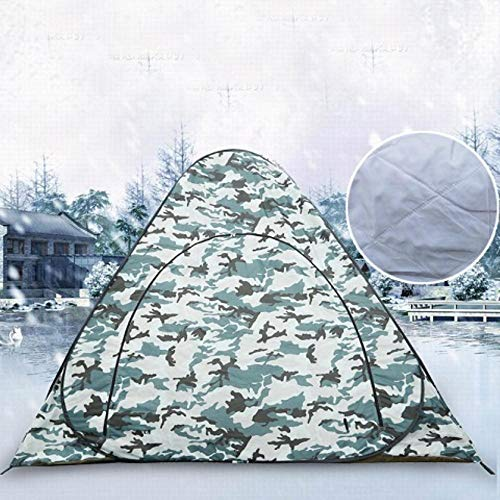HLSX Meters Thick Ice fishing tent! Professional thick cotton warm winter steel automatic pop up fishing tent,camouflage