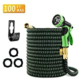 Mlife 100 FT Expandable Garden Hose, Flexible Water pipe with Three Latex Core