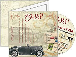 1938 The Classic Years CD Greeting Card : 80th Birthday or 80th Anniversary Memento