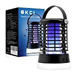 Bug Zapper Electric Mosquito Killer Insect Fly Trap Mosquito Attractant Trap Control with Camping Lamp for Indoor Outdoor Backyard Patio Camping Cordless and Hangable