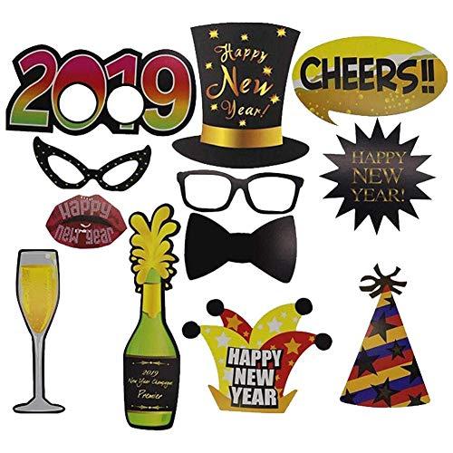 Foto-Requisiten für Weihnachten, 32/12 Stück, Party-Dekorationsset für Hochzeiten, Geburtstage, Partys, Kostümzubehör, Karten-Masken