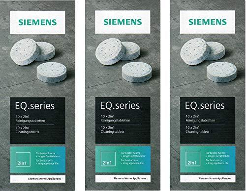 Siemens TZ80001 tabletki czyszczące 3 sztuki w opakowaniu