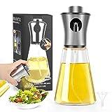 hicoosee Pulverizador Aceite, Spray Aceite Cocina Dispensador de Botella de Aceite de Vdrio de Acero Inoxidable para Cocinar,Ensalada,Hornear,Pan,BBQ, 200ml