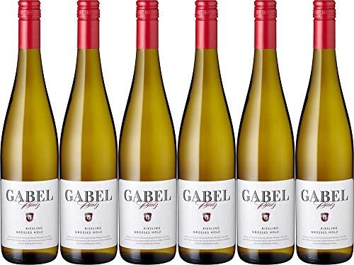 6x Riesling trocken Großes Holz 2018 - Weingut Gabel, Pfalz - Weißwein