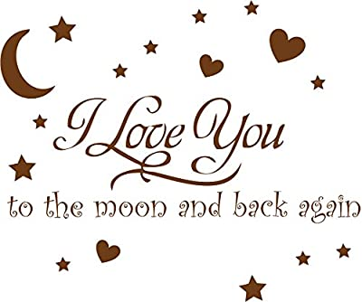 Decaltor Babyroom I Love You to the Moon and Back