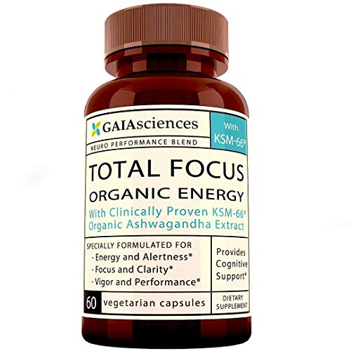 Brain Supplement Nootropics Booster: Total Focus, Boost Concentration, Memory & Clarity, Ashwagandha, Ginkgo Ginseng Bacopa Extract, Vitamin B, Dmae, Focus Supplement Brain Support Energy Pills 60ct
