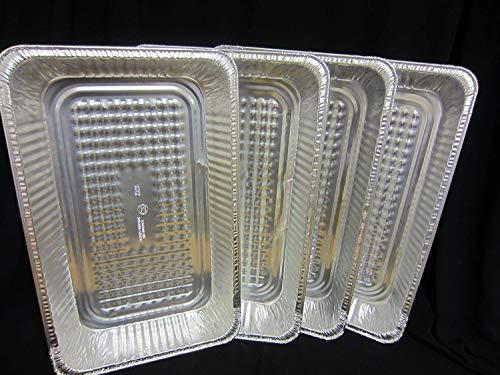 4 x Extra Large Size Rectangular Foil Roasting Pan/Baking 52cm x 33cm x 7cm