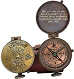Engraved Compass, Gift for Husband,Anniversary,Wedding Gift for Him, Long Distance Boyfriend Gift, Fiance Gift I Miss You Long Distance Relationship Gift for Army Boyfriend Gift