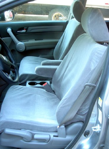 Exact Seat Covers, HD14 V7, 2007-2009 Honda CRV Front and Back Seat Set Custom Exact Fit Seat Covers, Gray Velour :