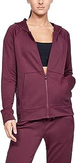 Under Armour Women's Tech Terry Fz Jacket, Purple (Level Purple/Black), Medium