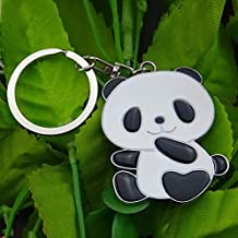 MEIHEK Keychains Panda Key chain New Cute Panda Metal Keychain for Bag Car Key Ring Tourism Souvenir Gifts Key cha#17072