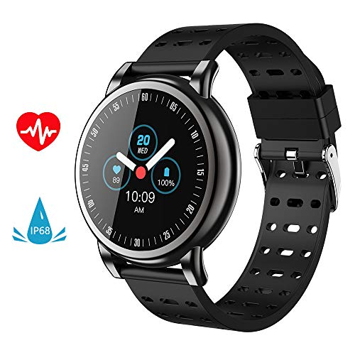 Number-one Smart Watch, Activity Fitness Tracker Watch 2.5D Water Splash Color Screen with Heart Rate Blood Pressure Monitor Sleep Monitors Calorie Pedometer, IP67 Waterproof Smart Bracelet for Men/Wo