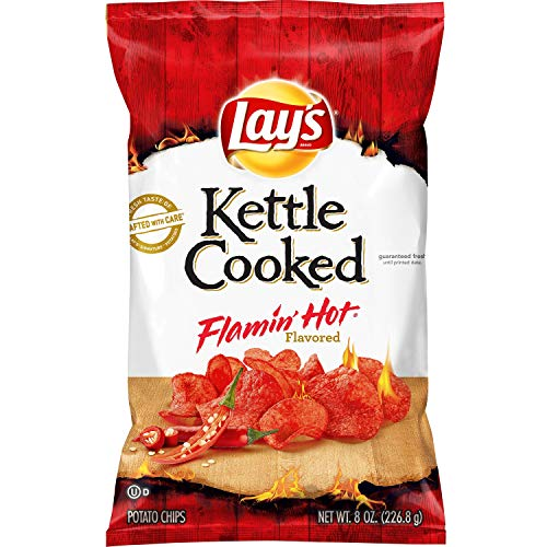 Lay's Cooked Flamin' Hot Flavored Potato Chips, 8 Oz