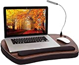 Sofia + Sam Oversized Memory Foam Lap Desk with Detachable USB Light (Black) - Supports Laptops Up to 17 Inches