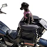 Dog Cat Carrier Motorcycle Back seat Pet Luggage Bag Weather Resistant...