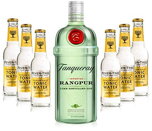 Gin Tonic Set - Tanqueray Rangpur 0,7l 700ml (41,3% Vol) + 6x Fever Tree Tonic Water 200ml inkl. Pfand MEHRWEG