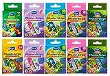 Tiritas Figo para niños con diferentes dibujos, 100 unidades, 10 paquetes + 1 bloc de notas