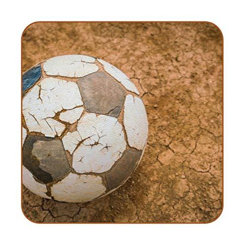 Posavasos para bebidas, juego de 6, posavasos para bebidas frías, copas de vino, tazas de vino, tazas de fútbol, fútbol