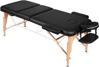 Massageliege Massagetisch Massagebett Massagestuhl mit 3 Zonen tragbaren höhenverstellbaren Holzfüßen Einfache Installatio...