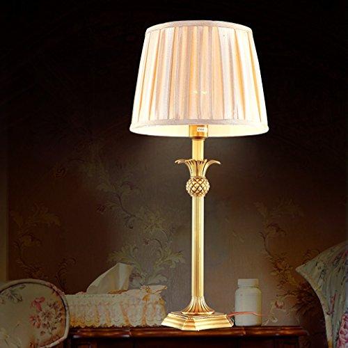 Bonne chose lampe de table Européen - Lampes de style Tongdeng Living Room Lamp Bedroom Lampes de chevet High-End Lampes de cuivre de luxe