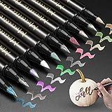Best Brush Tip Markers - Premium Metallic Marker Pen, JR.WHITE Metallic Brush Tip Review