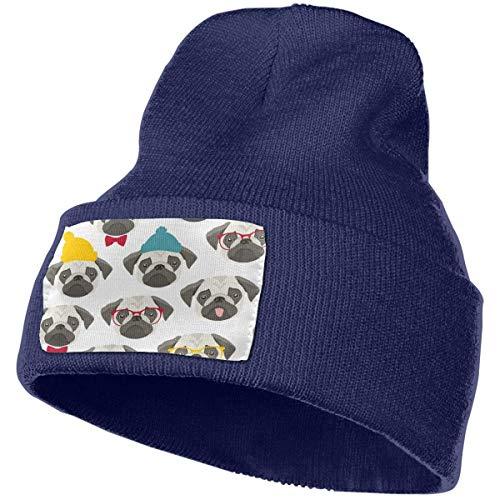 Hdadwy Pug Life Man Womans Knit Caps Winter Warm Beanie Hat