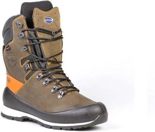 Lavoro 1671.02 4EST Range Elite - botas de motosierra para hombre (Talla 4), Color marrón