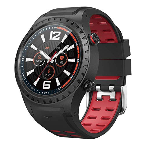 SMA-M1 Smart Watch for Android Phones for Men Answer Calls Activity Tracker Watch Fitness Tracker Watches with Heart Rate Monitor Sleep Monitoring Smartwatch Build-in GPS Fitness Watch (Red)