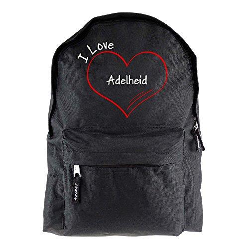 Rucksack Modern I Love Adelheid schwarz - Lustig Witzig Sprüche Party Tasche
