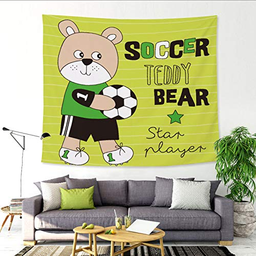 nobranded Netter Kleiner Bär Cartoon Tier Tapisserie Wohnzimmer Schlafzimmer Tapisserie Strandtuch dekorative Stoff Hintergrund Stoff
