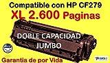 Tonerahorro CF279A XL - Toner laser, color negro 2500 paginas. GARANTIA DE POR VIDA