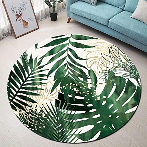 Planta Alfombra Redonda Sala de Estar decoración Alfombra Dormitorio Alfombra Silla Piso baño baño Alfombra Antideslizante Felpudo-D 80