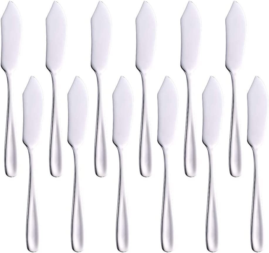 Butter Knives Set of 12 Cheese 10 Spreaders 1 year warranty BUYUSE Large-scale sale 6.1-Inch 18