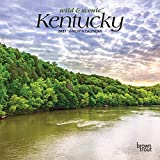 Kentucky Wild & Scenic 2021 7 x 7 Inch Monthly Mini Wall Calendar, USA United States of America Southeast State Nature