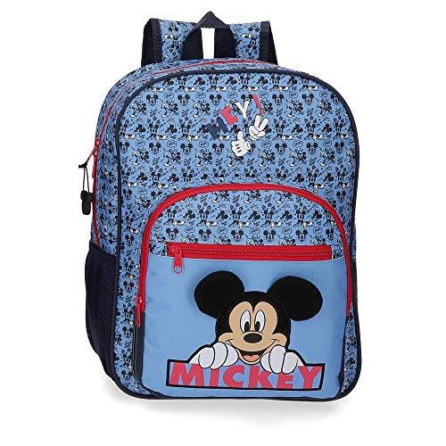 Disney Mickey Moods Zaino Rosso 30x38x12 cms Poliestere 13.68L